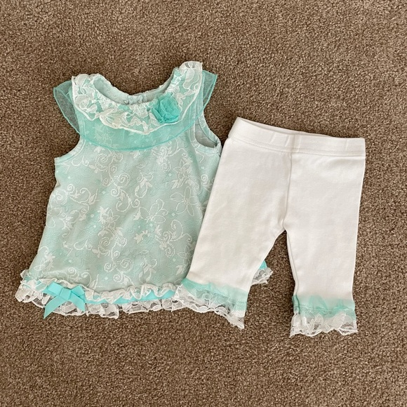 Little Lass Matching Top & Legging Outfit 6-9m